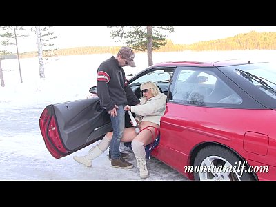 Blowjob Car Christiansen video: MonicaMilf s car breakdown in the norwegian winter