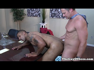 Ebony office hunk assfucked deeply