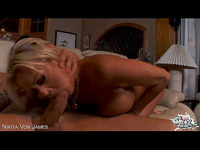 Tits Oral Blonde video: Busty Nikita Von James gets fucked