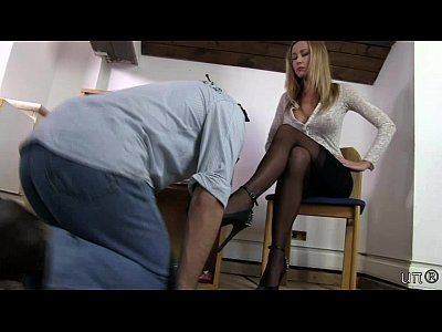 Domination Femdom Fetish video: UNP009-Sarah Jain Boss New Intern- Free video