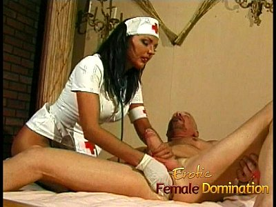 Brunette Cumshot Fingering video: Busty nurse fucks her kinky patient with a giant strap-on