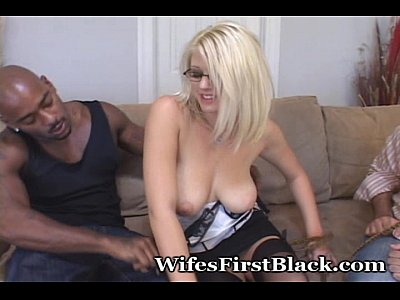 Cuckold Lingerie Blonde video: Seeking First Black Experience