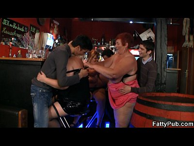Bigtitsparty Bbwbar Bbwclub video: Huge boobs bbw have fun in the bar