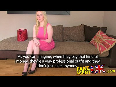 FakeAgentUK Busty blue eyed Scottish chick gets creampie in fake casting