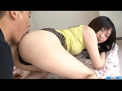 Asian Japanese Licking video: Rough anal sex with brunette Rika Sonohara