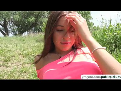 Teen Outdoor Brunette video: Bigtits Russian babe Ally gets pick ip in the lake and fucked outdoors