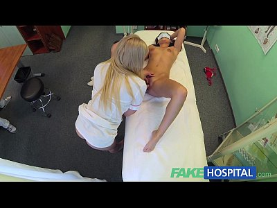 Amateur Voyeur video: FakeHospital Doctors cock and nurses tongue cure frustrated horny patients