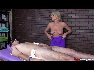 Femdom Handjob Massage video: Blindfolded and Teased Brad Eventually Gets A Happy Ending
