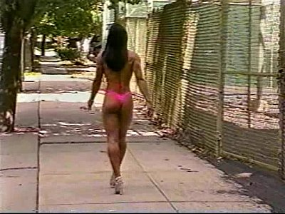 Sexy Latina Outdoors video: Fitness Girl Showing Off Great Body Outdoors