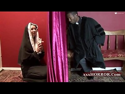 Anal Nun video: Confession Booth