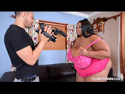 Boobs Ebony Chubby video: HugeTit Black BBW Cotton Candi Fucks Her Ex's Friend