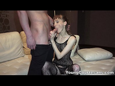 Amateur Blowjob Brunette video: Young Courtesans - Money spent on great sex