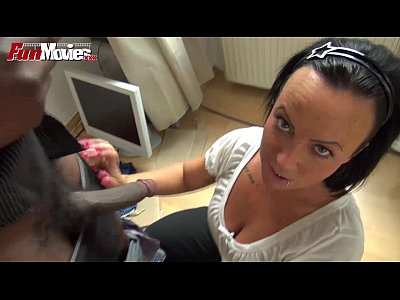 Bbc Blowjob Cumshot video: FunMovies German amateur wants a Big black cock