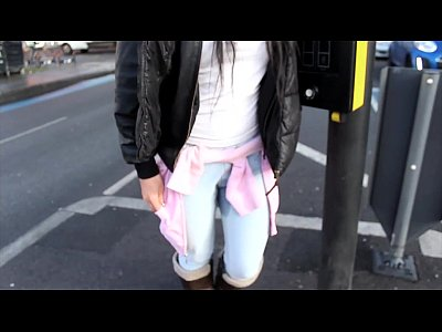 Brunette Kinky Outdoor video: PornXN British girl pissing in public