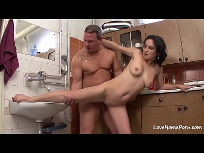 Shaved beauty is getting doggy style slammed hard