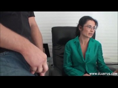 Brunette,Handjob,Milf,Office,Jacking,Jerking