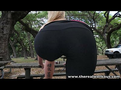 Shaved Outdoor Facial video: TheRealWorkout Fit blonde Lexi Davis pounded and facialized after workout
