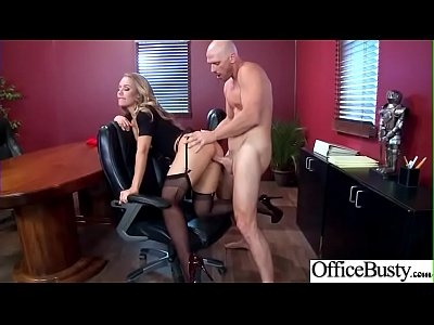 Hard Bang On Cam In Office With Big Round Tits Girl (Nicole Aniston) video-22