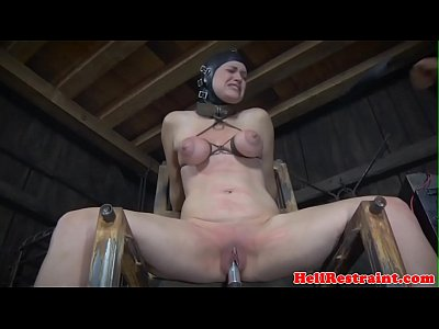 Bigtitted sub whipped and caned by maledom