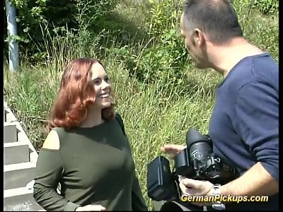German Amateur Bbw video: pickup busty german redhead