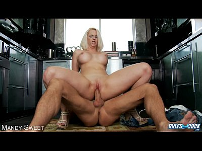 Tits Oral Blonde video: MILF Mandy Sweet suck and fuck cock