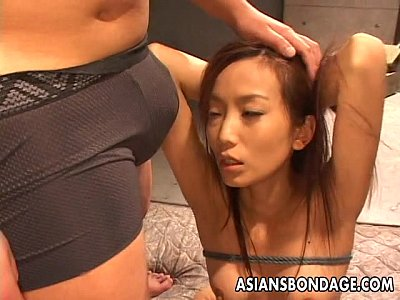 Asian babegets to befucked hard as she is tied up