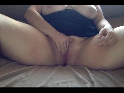 Pussy Masturbate Clit video: Playing with my hard clit
