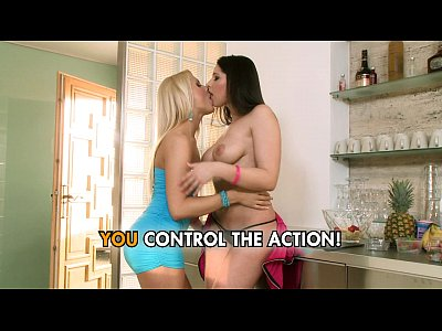 Fingering Blonde Brunette video: Girl on girl