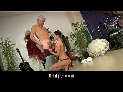 Teenie big tits school girl ass fucking, cock sucking for old teacher