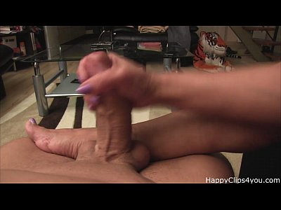 Mrs Loren - my stepmom footjob, and sloppy handjob