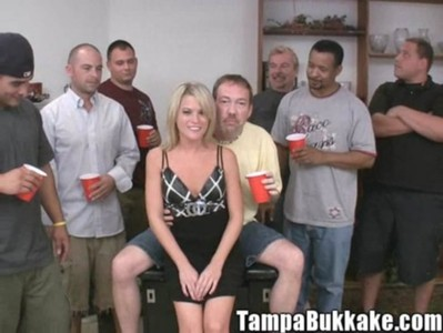 Bukkake Oral Blonde video: tbc carly bukkake