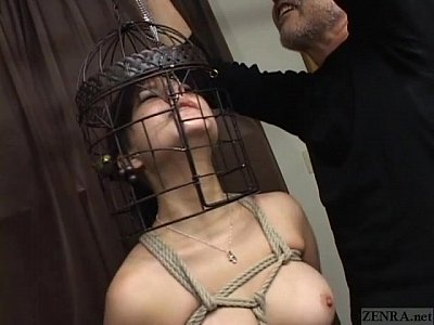 Subtitled Japanese CMNF BDSM nose hook bird cage play