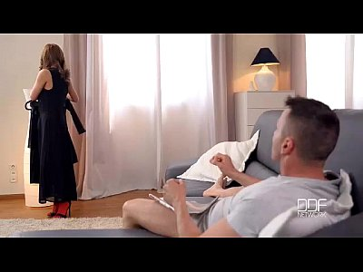 European Eyes Face video: Dominica Phoenix gives a hot footjob in red stockings