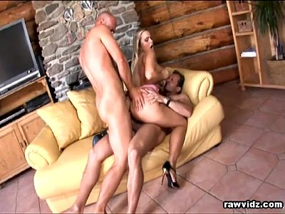 Anal Bigcocks Blowjob video: Blonde Babe Gets Double Teamed