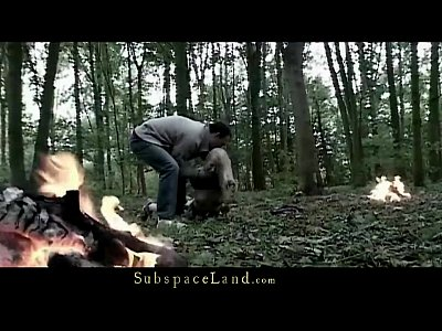 Blonde Blowjob Domination video: Bdsm Forest Hunting