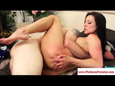 Blowjob Cocksucking Pornstar video: Kendra Lust gets a mouthful of cum
