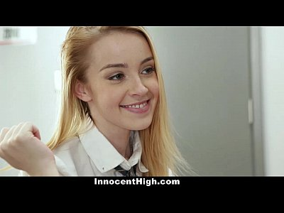 Blonde Facial Uniform video: InnocentHigh - Coed Alexia Gold Gets Drilled