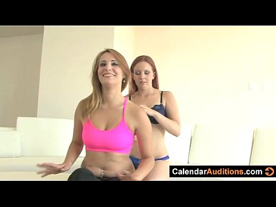 Amateur Babes Pov video: Lesbian Seduces Yoga Instructor At Audition