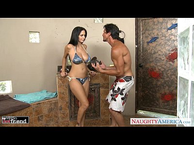 Blowjob Pornstar Brunette video: Brunette MILF Ava Addams gets big knockers fucked