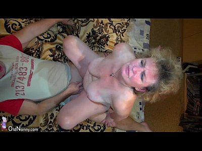 Bbw Tits Threesome video: Mature man fucking mature woman and Old granny