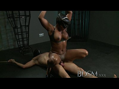 Bdsm Fetish Domination video: BDSM XXX Caged slave boy gets hardcore treatment from his powerful and horny Mistress