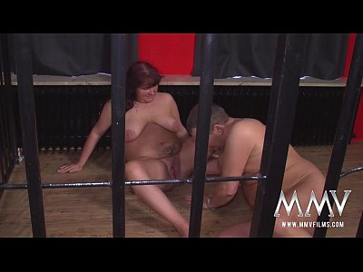 Blonde Blowjob Cumshot video: MMV FILMS Swingers in a cage