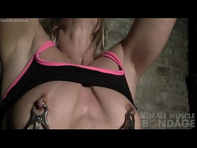 Naked Female Muscle Cougar in Pain from Nipple ...