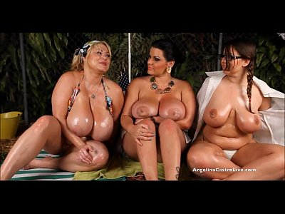 Blondes Bbw Outdoor video: Angelina Castro OutDoors Oily ThreeSome and Sex Stories!