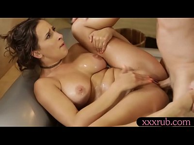 Lovely masseuse Ashley Adams drilled by handsom...
