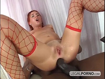 Interracial Redhead Blackcock video: Big black cock fucking a sexy redhead in the ass BMP-3-04