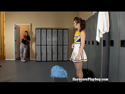 Teen Blowjob Brunette video: Amateur teen cheerleader fucked by coach