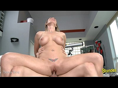Blonde Shaved Milf vid: Blonde babe Tanya Tate gets nailed