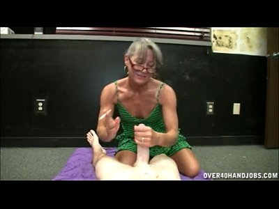 Handjob Milf Mature video: Smoking Granny Handjob