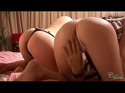 Balllicking Blonde Doggystyle video: Two girls just eats his cock